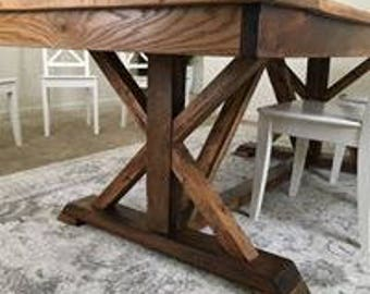Rustic FancyTrestle x table