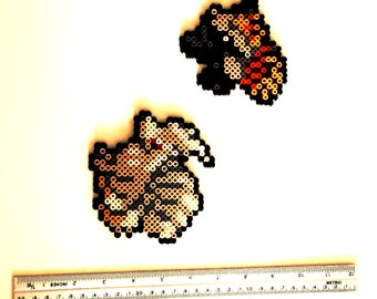 Hama bead made Ninetales/Ninetales and Vulpix/Vulpix