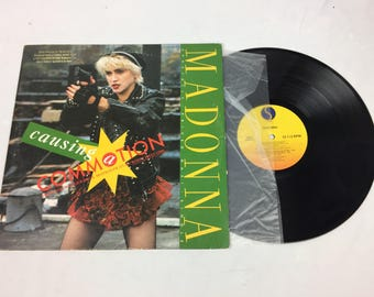 "Madonna ""Causing Commotion"" vinyl lp record with sleeve"