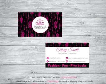 Paparazzi Business Card, Custom Paparazzi Business Card, Floral Business Card, Paparazzi Marketing Card - Printable, Digital file PP02