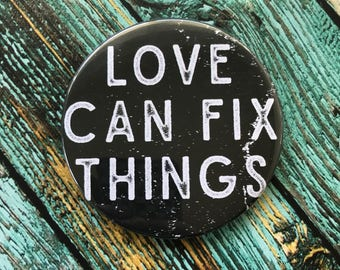 Love Can Fix Things Purse Mirror