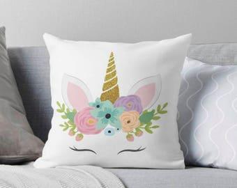unicorn Decorative Cushion, Unicorn Cushion, Unicorn Pillow, Unicorn, Unicorn Gift, Unicorn Nursery, Cushion, Girl Gift, Nursery Decor