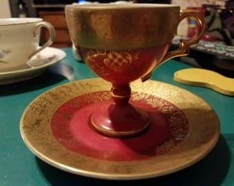 Vintage Renaissance Pedestal Japanese Tea Cup