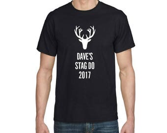 Personalised Stag Do T-shirt
