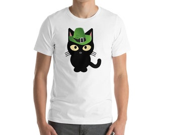 Cat St. Patrick's Day - St Patricks Day Tee - Irish Shirt - St Pattys Day Shirt - Black Cat Gift - St Pattys day - St Patricks Outfit