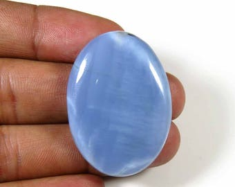 Blue Opal cabochon. 36 Cts. Natural Blue Opal. Oval Shape Gorgeous~ Blue Opal gemstone. for Jewelry Blue Opal loose. 35x26mm. MX-871