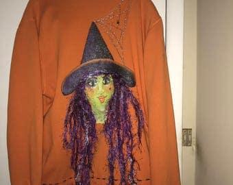 Hand Painted Halloween Jacket