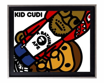 Bape x Kid Cudi Poster or Art Print (a bathing ape)