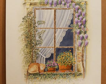 OLD GREEK WINDOWS, Old Window, Thessaloniki (Center of the City), (Aquarelle) 50x70cm, 2012