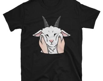 Chubby Cheeks Funny Goat Shirt, Cute Goat Pet Gift