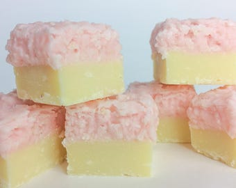Coconut Ice Fudge