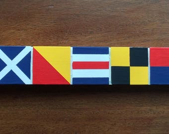 Signal Flag Welcome Sign