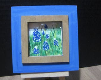bluebonnets miniature painting