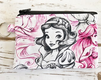 Disney Inspired Snow White Coin Pouch / Coin purse