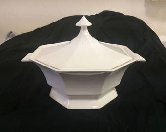 Ironstone Covered Casserole Dish