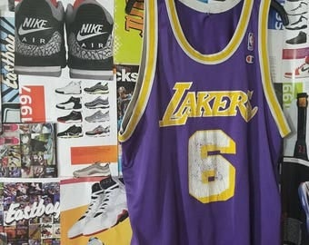 Champion Lakers Jersey Eddie Jones #6