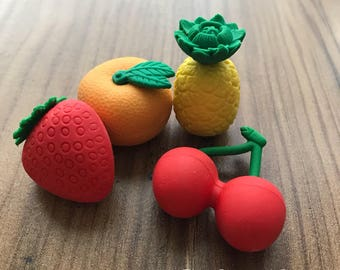 Fruity Erasers, set of 4