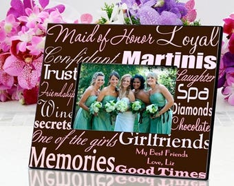 Personalized Maid of Honor Frame - Maid of Honor Frame - Maid of Honor Gifts - Maid of Honor Photo Frames - Personalized Maid of Honor Gifts