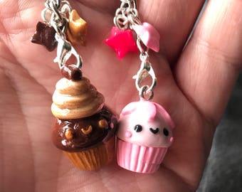 Cupcake polymer clay charms