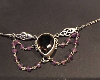 Sterling and Amethyst Necklace