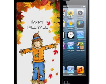 Rubber Case For iPhone X, 8, 8 plus, 7, 7 plus, 6s, 6s plus, 5, 5s, 5c, SE -Fall Scarecrow Y'all