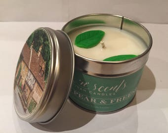Pear & Freesia Hand Made Scented Candle.