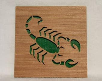 Table green scorpion