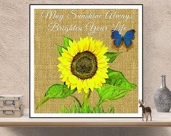 Sunflower Wall Art, Sunflower Decor, Sunflower Wall Decor, Sunflower Kitchen Decor, Sunflower Art, Sunflower Print, Sunflower Prints, Flower