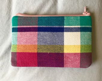 Bright Multicolored Makeup/Pencil Pouch