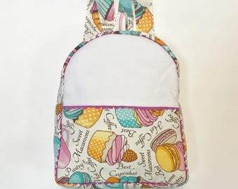 Fabric backpack, handmade ready to customize