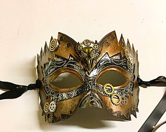 GearWorks, Mardi Gras mask, masquerade mask, party mask, Steampunk mask, men's mask, festival mask, costume mask, party mask, halloween mask