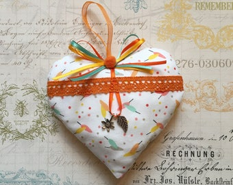 "Decorative fabric hanging heart / gift / ""Spring!"""