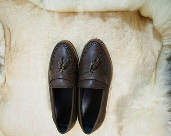 Vintage Brown Leather shoes us38-38.5