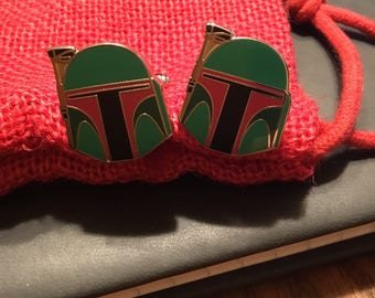 Star Wars Boba Fett Head Cufflinks
