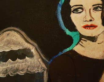 Brian Molko of Placebo canvas art