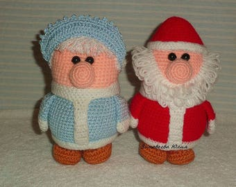 Grandpa Frost and grandma the Snow Maiden