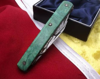 Vintage pocket knife made in USSR. Travel knife. Camping Knife. Hunting Knife. Fishing Knife. soviet knife