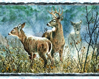 Fabric Panel, WINTER WHISPERS,  Michelle Mara, for  Wilmington Prints