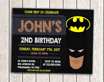 batman invitation batman invites batman invitations batman birthday invitation batman invites - Batman Party Invitations