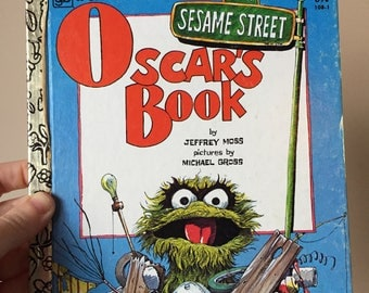 1980 Oscar's Book - Sesame Street - A Little Golden Book - Vintage and Used