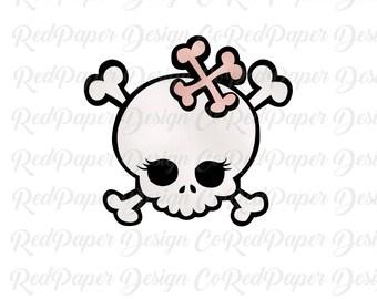 SVG Skeleton Emo Cute Girl Valentine Bones - Layered SVG, Jpg, Png