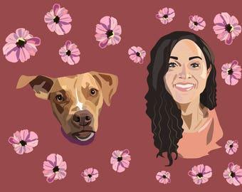 Pet Portrait Custom Pet Portrait