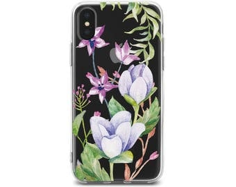 rose iphone Case for iPhone poppies iPhone 6 case floral 7 iPhone case iPhone 8 plus case wildflowers iPhone 8 rose iphone 8 case iPhone