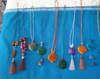 Natural Stone Necklaces Crafts-natural gemstones