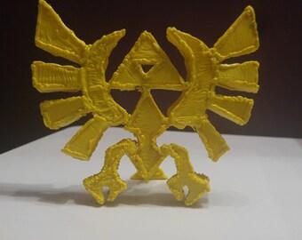 3d hand printed Lengend Of Zelda Triforce