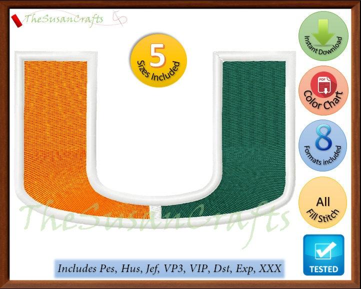 Miami Hurricanes Embroidery Designs