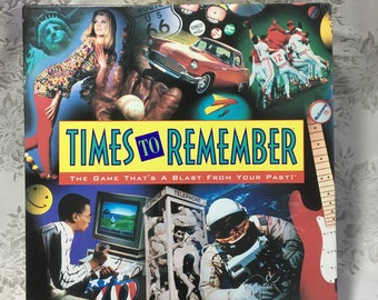 Times to Remember Board Game, Complete, Vintage 1991 by Milton Bradley
