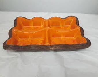 Orange serving platter
