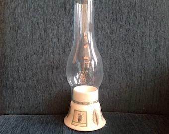 Vintage! Pfaltzgraff Naturewood hurricane lamp candle holder