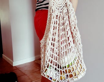 Crochet french market bag